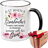 Great Grandma Novelty Coffee Mug Gifts for Grandmother, Mother-in-law, Mimi, Pregnancy announcement, Nana, Mimi, Meme, Christmas, Thanksgiving, Milk Juice Tea Cup