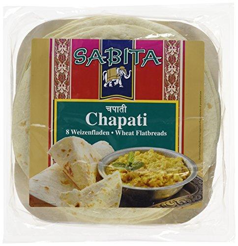Sabita Chapati, Weizenfladen 8 Stück, 12er Pack (12 x 320 g)