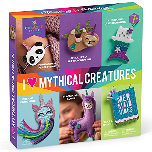 Craft-tastic I Love Mythical Creatures – Award-Winning Craft Kit for Kids –...