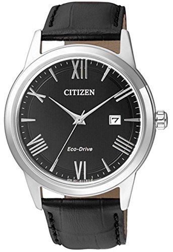 CITIZEN Herren Analog Quarz Uhr mit Leder Armband AW1231-07E