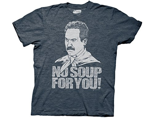 Ripple Junction Seinfeld No Soup for You Adult T-Shirt XL Navy Heather