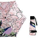 XJYJF Paraguas Plegable 5 Veces Paraguas a Prueba de Viento Viaje Reforzado Paraguas Sol Paraguas de Lluvia for Mujeres Hombres de Viaje Paraguas ,Proteccion Solar (Color : Pink, Size : Free)