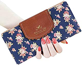 SeptCity Womens Long Cute Floral Wallet Clutch,Gift for Her