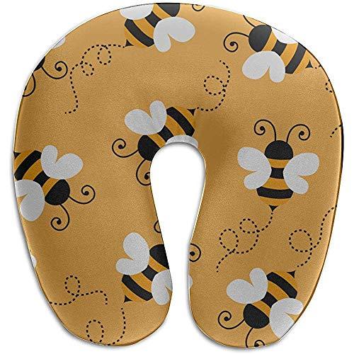 Warm-Breeze Schlaf Nackenkissen Biene Fleißige Doppelflügel Insekt U-förmige Memory Foam Nackenkissen Reisekissen Cool U Kissen