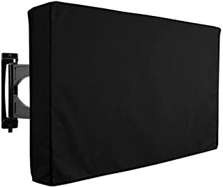 Outdoor TV Cover 40''-65'' Weatherproof UV Resistant, Dust- Proof, Built in Remote Controller Storage Pocket (50''-52'' L)