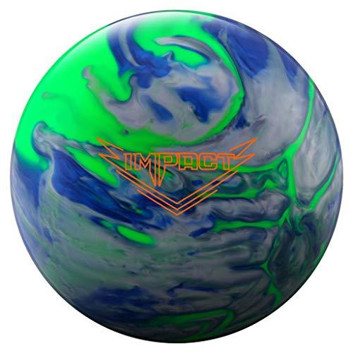 Ebonite 029744028187 Impact Bowling Ball, Lime/Blue/Silver, 15