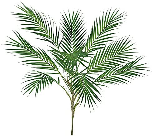 Supla 1 Pcs Artificial Tropical Palm Leaf Bush in Green Plastic Areca Palm Plant 9 Leaves per product image