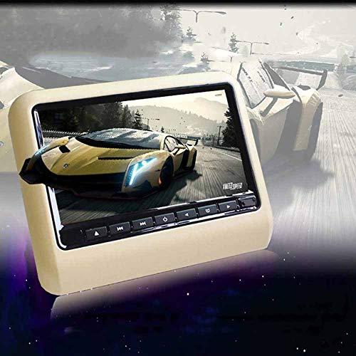 QWSA Monitor LCD AutomóVil Soporte para Reposacabezas para Reproductor De DVD PortáTil De 9 Pulgadas, Multilenguaje, con Puerto HDMI,Puerto USB SD,para Viajes Al Aire Libre