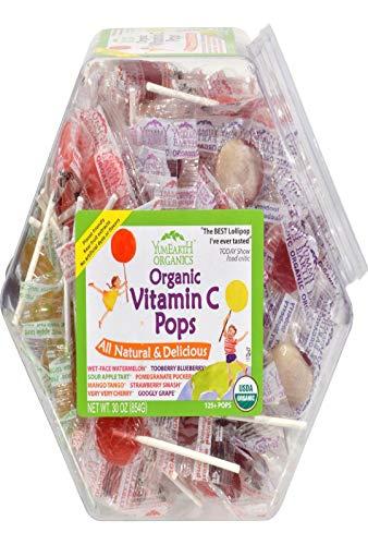 Yummy Earth 0337162 Organic Vitamin C Pops Counter Bin  150 Pops