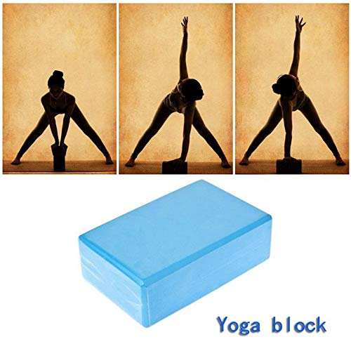 SKEIDO 1Pack Yoga Block Brick Foaming Foam Home Exercise Fitness Gym Sport Tool Blue 225x 145x76mm