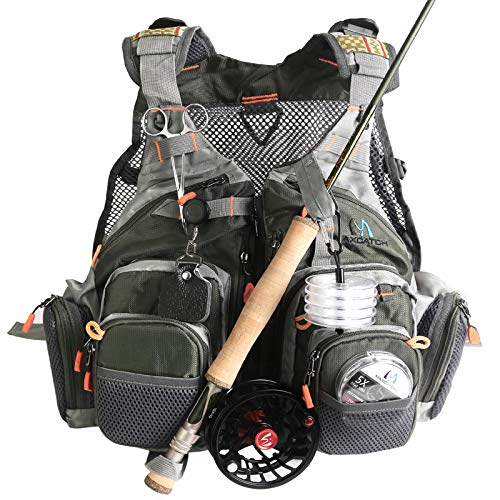 M MAXIMUMCATCH Maxcatch Fly Fishing Vest Mesh...