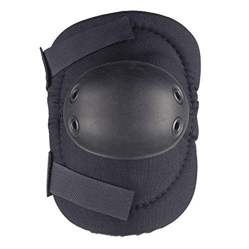 ALTA 53010.00 AltaFLEX Elbow Protector Pad, Black Cordura Nylon Fabric, AltaGrip Fastening, Flexible Cap, Round, Black (One Pair)
