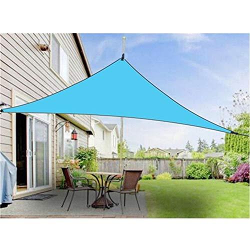 Dosel al Aire Libre Parasol Triángulo Cielo Simple Pantalla de protección Solar Dosel, Tamaño: 3X3X3M Iris del Espacio (Color : Random Color)