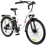 VIVI Electric Bike, 26' Electric Cruiser Bike 350W Ebike 20MPH Adults Ebike with Removable 8Ah Lithium-Ion Battery, Shimano 7 Speed, City Commuter Electric Bicycle