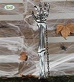 Guirca Halloween Skeletthand Hand Knochen Gartendeko Bodenstecker
