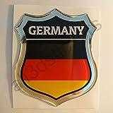 All3DStickers Aufkleber Deutschland Kfz-Aufkleber Deutschland Emblem Gedomt Flagge 3D Fahne