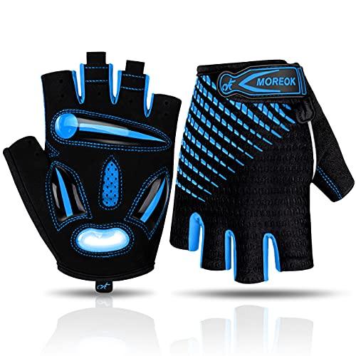 Faneam Half Finger Cycling Gloves Fingerless Biking Gloves Mtb Gel Padded Breathable Bicycle Gloves Anti-slip Road Riding Gloves Outdoor Shock-absorbing Mountain Bike Gloves For Men Women