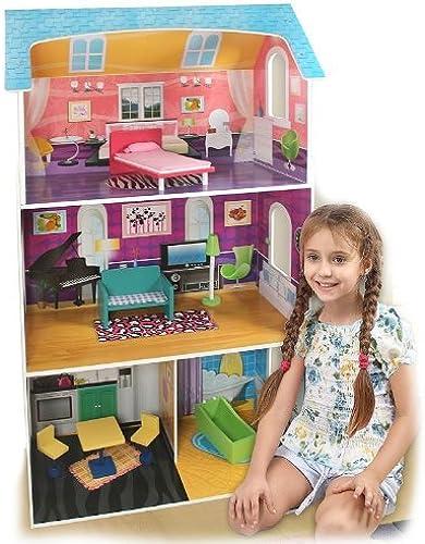 envío gratis Winland Fashion Dollhouse Dollhouse Dollhouse & 7-pc. Furniture Set by  WINLAND ELECTRONICS, INC.   nueva gama alta exclusiva