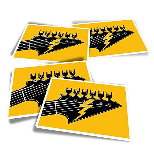 Pegatinas rectangulares de vinilo (juego de 4) – Rock Band guitarra eléctrica...