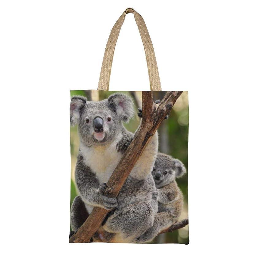 古くなった感嘆符単位Koala And Baby Lunch Bag Multifunction Bento Pouch レディース キャンバストートバッグ ハンドバッグキャンバスショルダーバッグ通勤通学 大容量 軽量