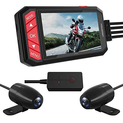 LANCERTECH ドライブレコーダー バイク用 防水カメラ 200万画素 2.7インチモニター G-Sensor WDR 日本全国L...