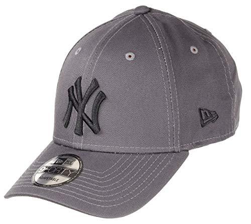 New Era New York Yankees MLB Cap 9forty Verstellbar Baseball Grau Schwarz - One-Size