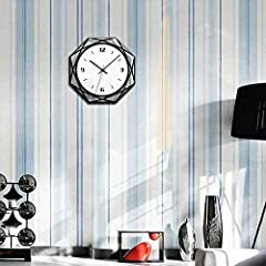 TIANYOU Wall Clock Silent No Ticking Bracket Clock Modern Geometry Polygon Wall Clock Acrylic Black and White Mirror Wall Clocks Simplicity is The Clock / 28 * 28cm #4