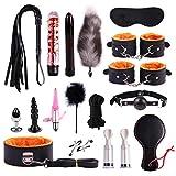Allowevt Nuevo Juego De Felpa Sexo Toy Suit Wand Massager Special Bundled Binding Set PU Leather SM Kit para Pareja Adulta KJ009 Ordinary