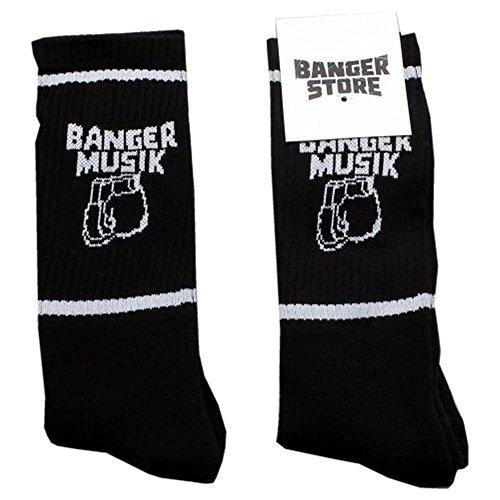 Banger Musik Socken (ein Paar) (Schwarz)