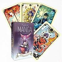 78枚のカード/ミステリーコミックスタロットカード、将来のボードの運命を予測するゲームデッキタロットゲームポーカーカード、英語の占いガイドカードタロットカード