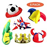 Assorted Party Hats Set of 6 Funny Party Hats Novelty Party Hats Funny Dress Up & Costume Hats for Adults, Teens, Photobooth, Party, Weddings, etc