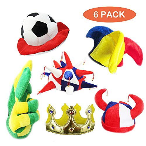 Assorted Party Hats Set of 6 Funny …
