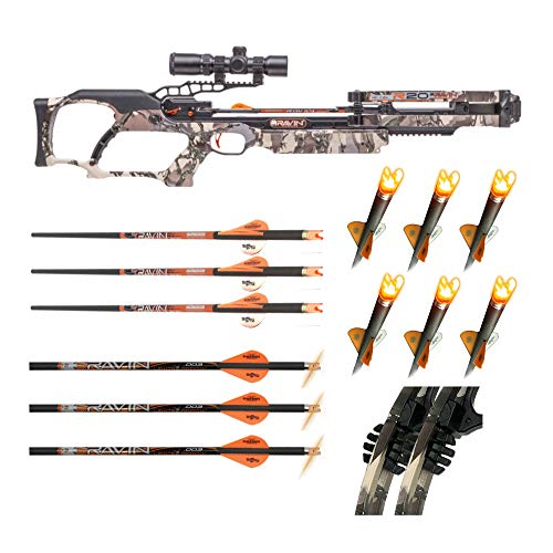 Ravin Crossbows R20 430 FPS Crossbow with Six Arrows and Lighted Nocks Bundle (7 Items)