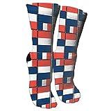 Jesse Tobias France Flag Puzzle Crazy Socks 3D Crew Calcetines