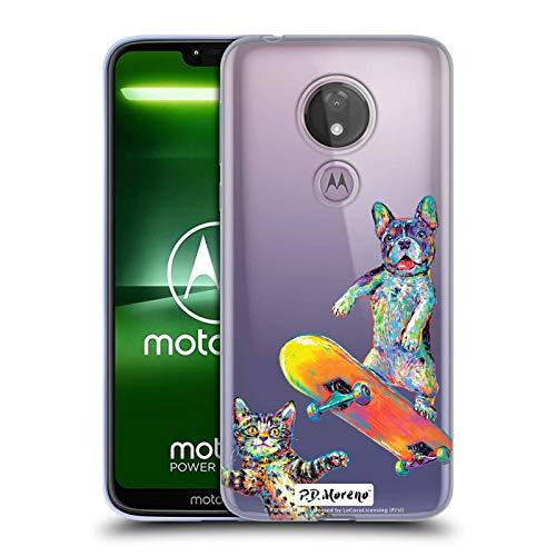 Head Case Designs Offizielle P.D. Moreno Paar Skateboard Lustige Liebe Soft Gel Huelle kompatibel mit Motorola Moto G7 Power