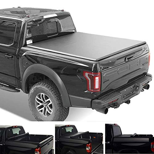 MGPRO 1pc Black Vinyl Clamp on Soft Lock & Roll-up Top Mount Tonneau Cover...