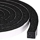 Maximum Compression Sponge 1 X 1/2 Inch, Rubber Foam Strip Adhesive for Insulation, Weatherstrip, Gap Blocker, Anti-Vibration, Anti-Collision, 6.5 Feet Long, 2 Pcs