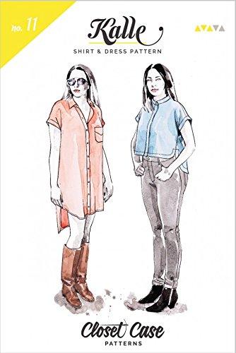 Closet Fall Dateien Damen Schnittmuster Kalle-Shirt und Hemdblusenkleid