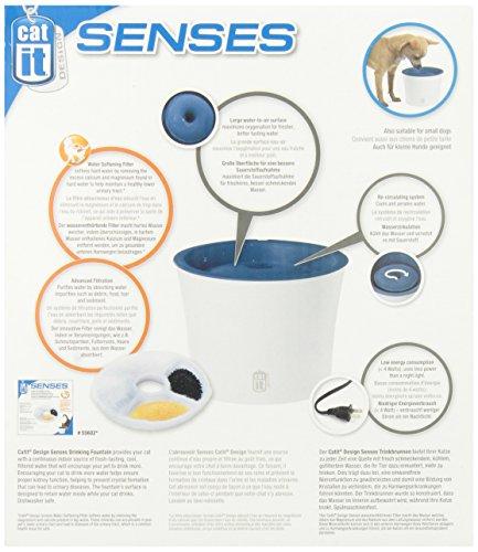 """Catit 50761 Senses Trinkbrunnen """"Fresh & Clear"""" 3 L für Katzen mit Softfilter - 5"""