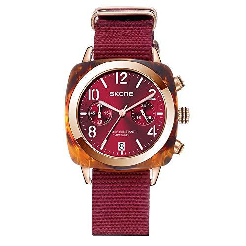 Armbanduhren,Netto Rote Paar Uhr Art Und Weisewasserdichte Große Quarz Uhr Roter Gürtel des Weines