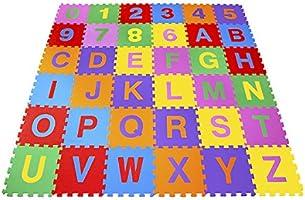 Carlu Brinquedos - Tapete Alfanumérico Pequeno Eva 36 Peças Embalagem com Zíper