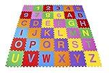 Carlu Brinquedos 0366 - Tapete Alfanumérico Pequeno Eva 36 Peças Embalagem com Zíper , Multicor