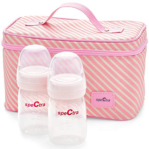 Spectra - Cooler Bag Storage Kit for Breast Milk - Pink (Ice Pack and...