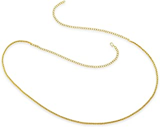 ACCESSHER Gold Color Copper Material Snake Chain Gold Kamarband