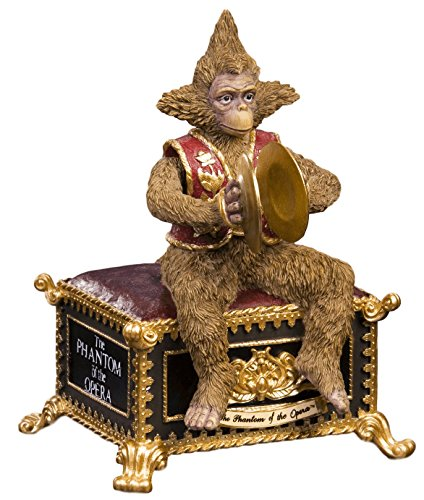 The San Francisco Music Box Company Phantom of The Opera Musical Monkey Figurine Collectible Music Box Gift