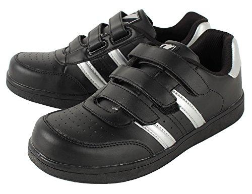 自重堂/Z-DRAGON/先芯入り作業靴 スニーカータイプ/セーフティシューズ(マジックタイプ) 044 ブラック 30cm