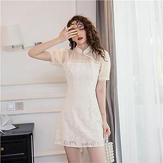 Sexy Lace Women'S One-Piece Dress Korean Summer Cheongsam Dress