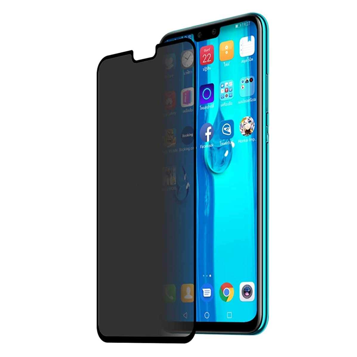 XINGRUI Moblie Glass Screen ENKAY Hat-Prince 0.26mm 9H 2.5D Privacy Anti-Glare Full Screen Tempered Glass Film for Huawei Y9 (2019) / Enjoy 9 Plus