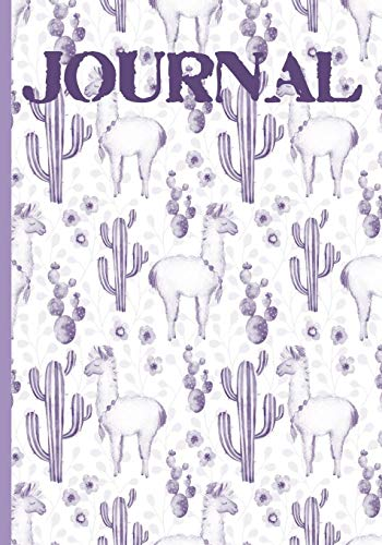 Journal: Mauve Llama Cactus Journal: (7x10, 120 Lined Pages) Perfect for the Adult or Teenager to Spark Your Creativity.