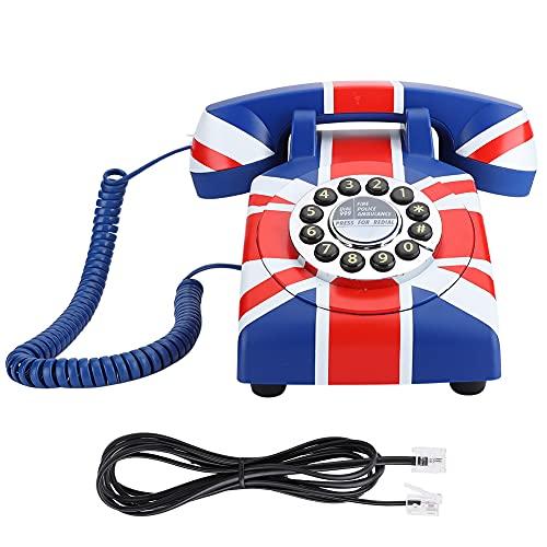FOLOSAFENAR Teléfono de Escritorio de tamaño pequeño y Ligero, teléfono residencial Resistente, Duradero, para decoración(American Line)